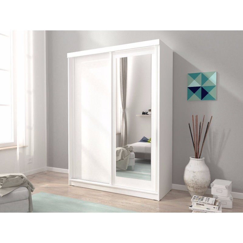 Mini 2 Sliding Doors Bedroom Small, Small Mirrored Wardrobe With Sliding Doors