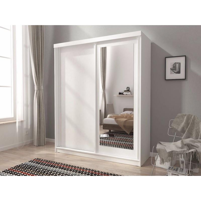 Mini 200 Sliding 2 Doors Bedroom Small Mirrored Wardrobe
