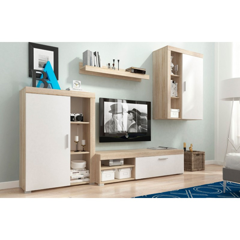 BMF OLI LIVING ROOM SET WALL SHELF TV STAND SIDEBOARD FLOATING DISPLAY  CABINET