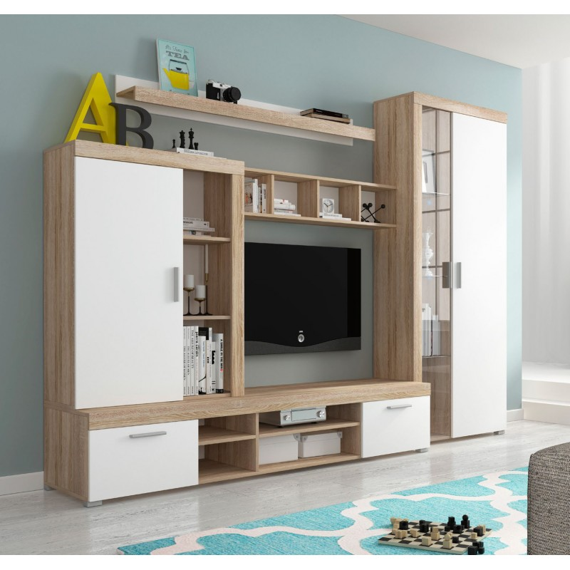 Bmf Tom Living Room Set Wall Shelf Tv Stand Tall Display