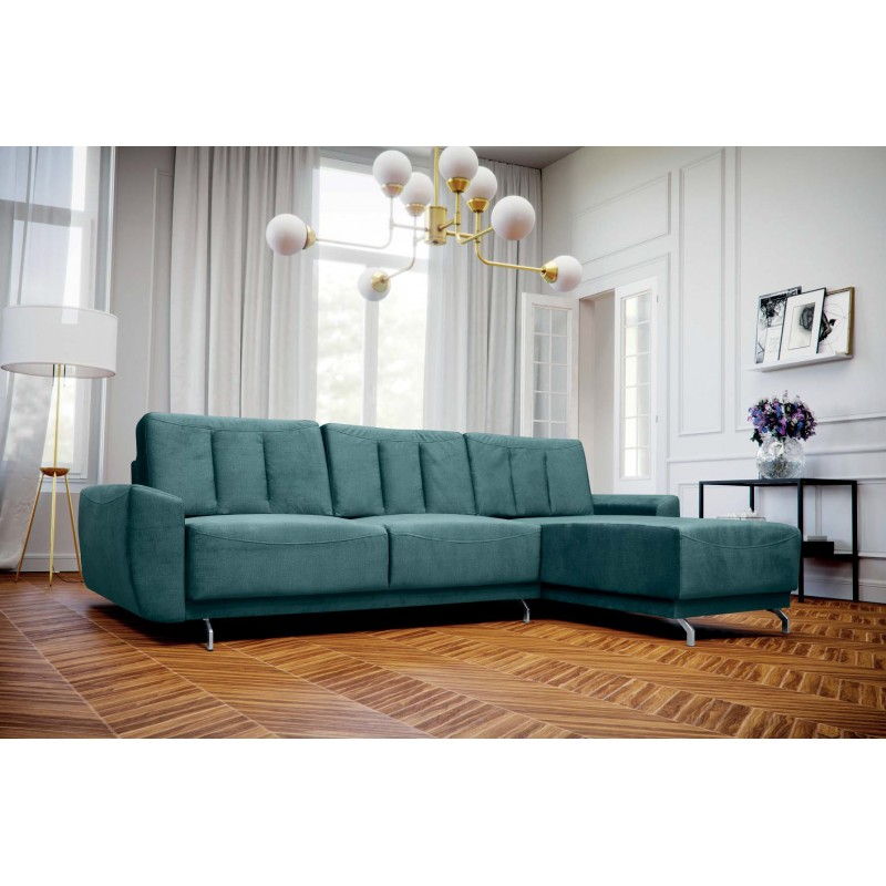 BMF MASSIMO CORNER SOFA MODERN STORAGE BED SLEEPING FABRIC 181cm x 295cm  RIGHT
