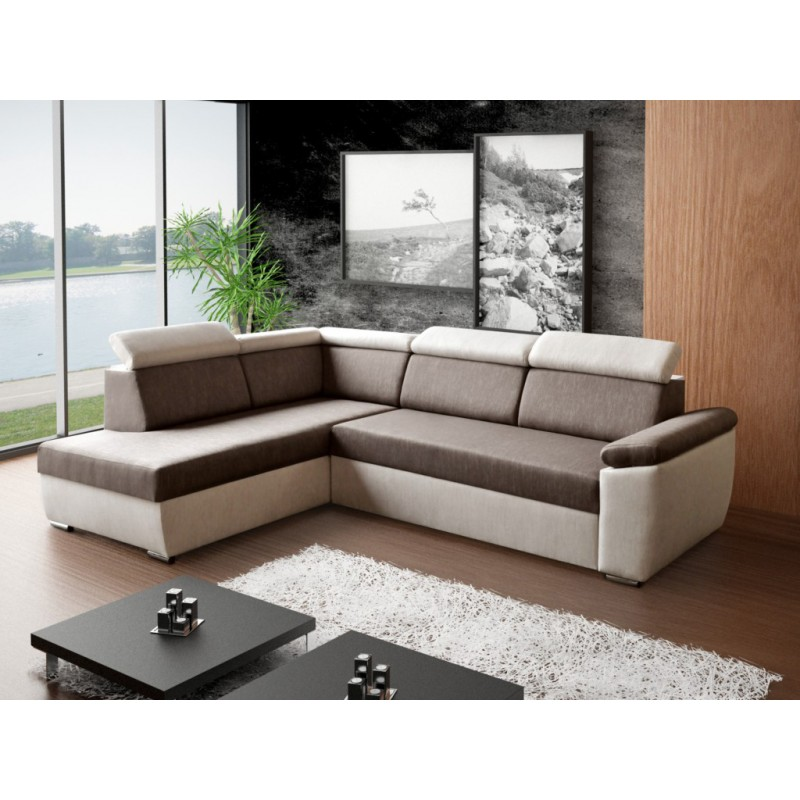Awesome Bmf Madera Corner Sofa Modern Storage Bed Sleeping Fabric 200Cm X 260Cm Left Complete Home Design Collection Barbaintelli Responsecom