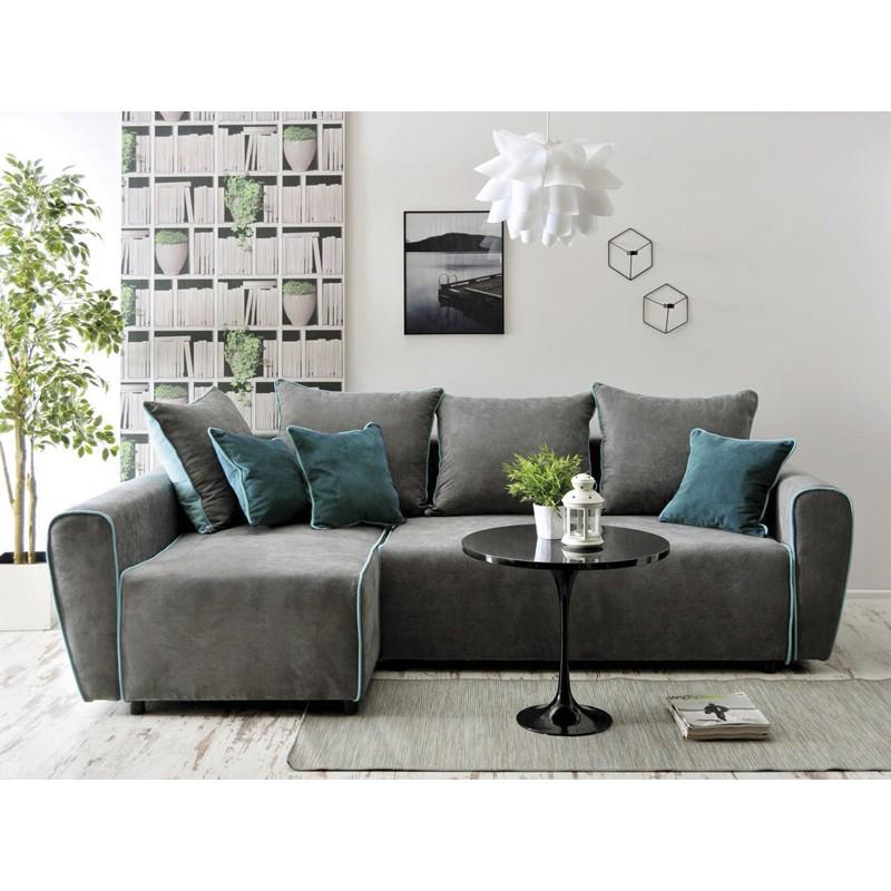 Enjoyable Bmf Blanka Corner Sofa Modern Storage Bed Sleeping Fabric 147Cm X 250Cm Left Complete Home Design Collection Barbaintelli Responsecom