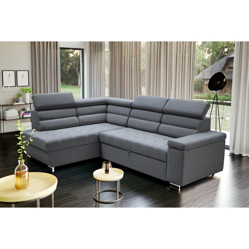 Wondrous Bmf William Corner Sofa Modern Storage Bed Sleeping Fabric 186Cm X 263Cm Left Complete Home Design Collection Barbaintelli Responsecom