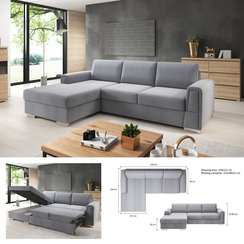 Incredible Bmf Logan Modern Corner Sofa Bed Storage Faux Leather Fabric Lf Download Free Architecture Designs Momecebritishbridgeorg