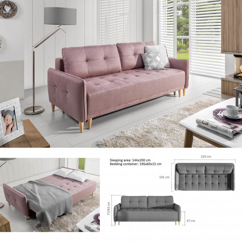 Prime Bmf Malmo Sofa Modern Sofa Bed Storage Wooden Legs Faux Leather Fabric Beutiful Home Inspiration Truamahrainfo