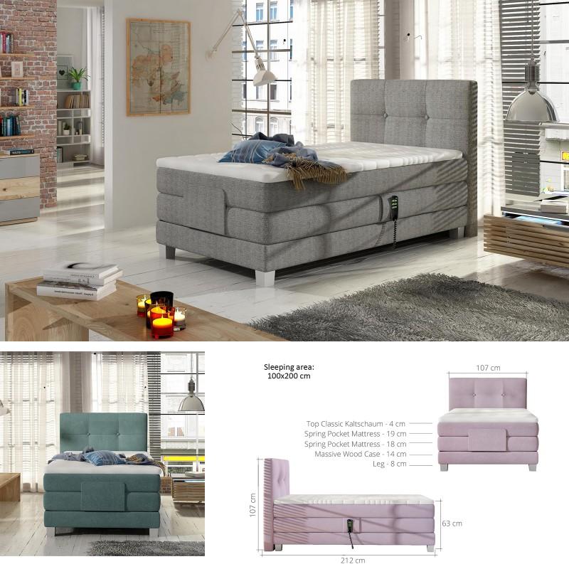 Bmf Espo 100 Cm Wide Mattress Modern Single Bed Faux