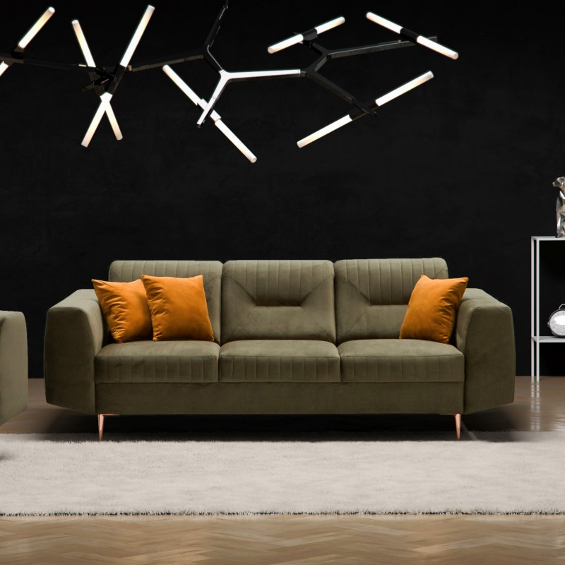Bmf Venezia 3 Seater Sofa Modern Comfortable 230 Cm Wide