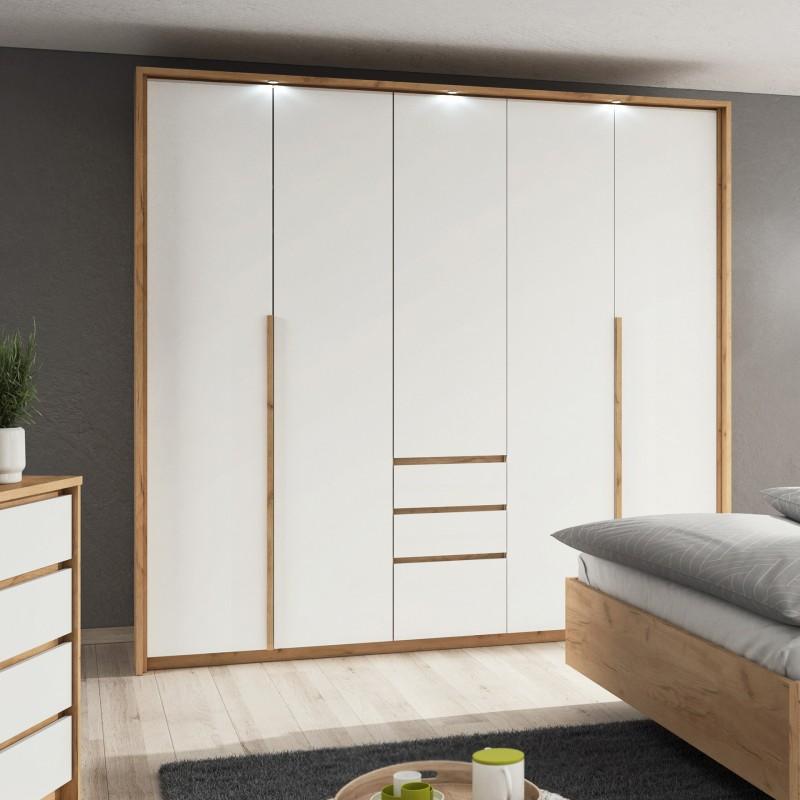 Bmf Xelo 2 Wardrobe 230cm Wide Led Light Strip Bedroom Modern White