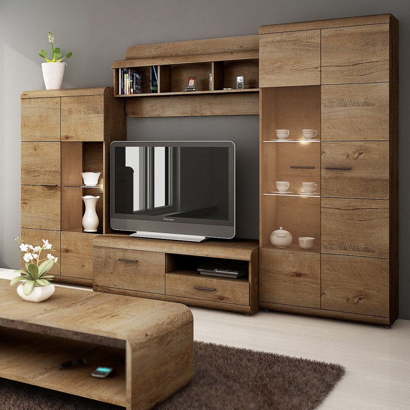 BMF LENA 17 WALL UNIT TV STAND WALL SHELF DISPLAY CABINET ...