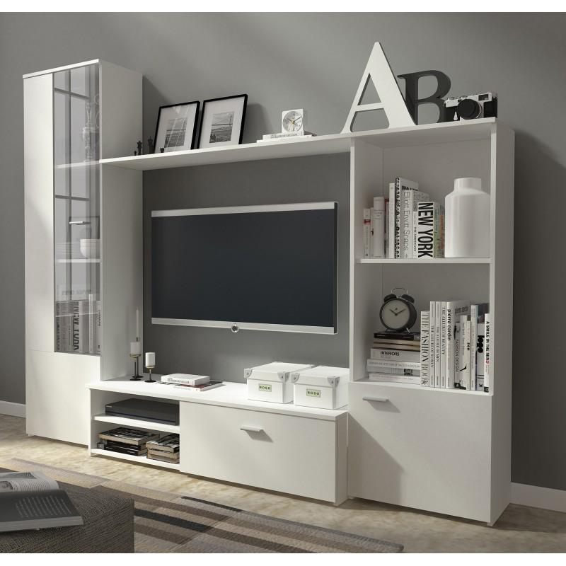 Bmf Hugo 1 Wall Unit 220cm Wide White, Living Room Shelf Unit