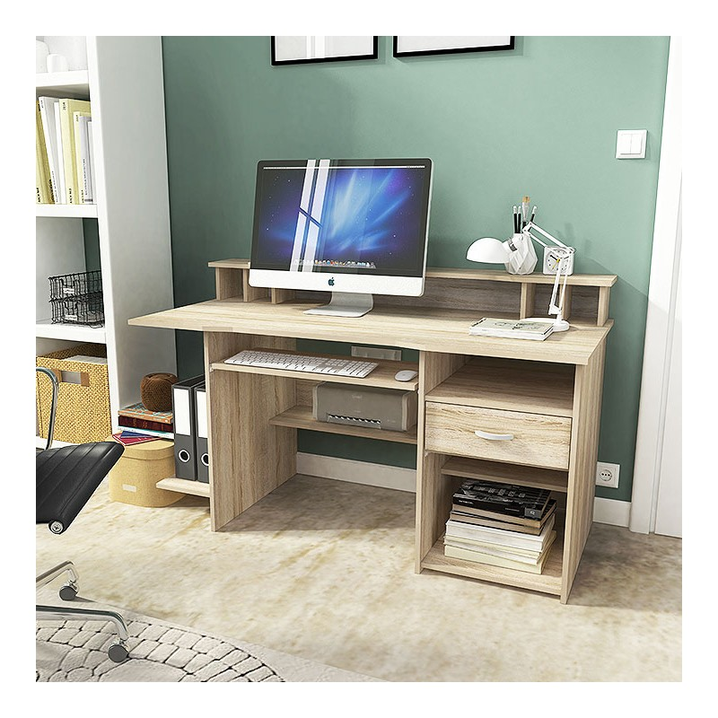 Bmf P4 151cm Wide Desk Keyboard Tray Storage Printer Shelf Modern