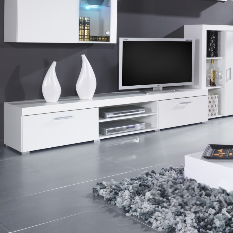 Bmf Samba 1 Tv Stand 200cm Wide Black White High Gloss Modern Living Room