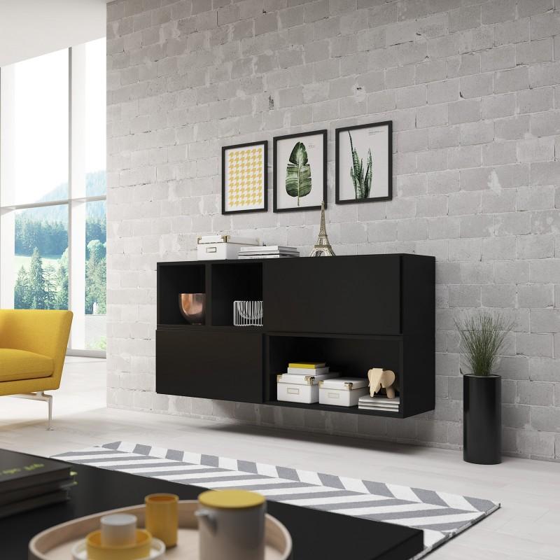 bmf roco 15 black matt floating cabinets shelves modern