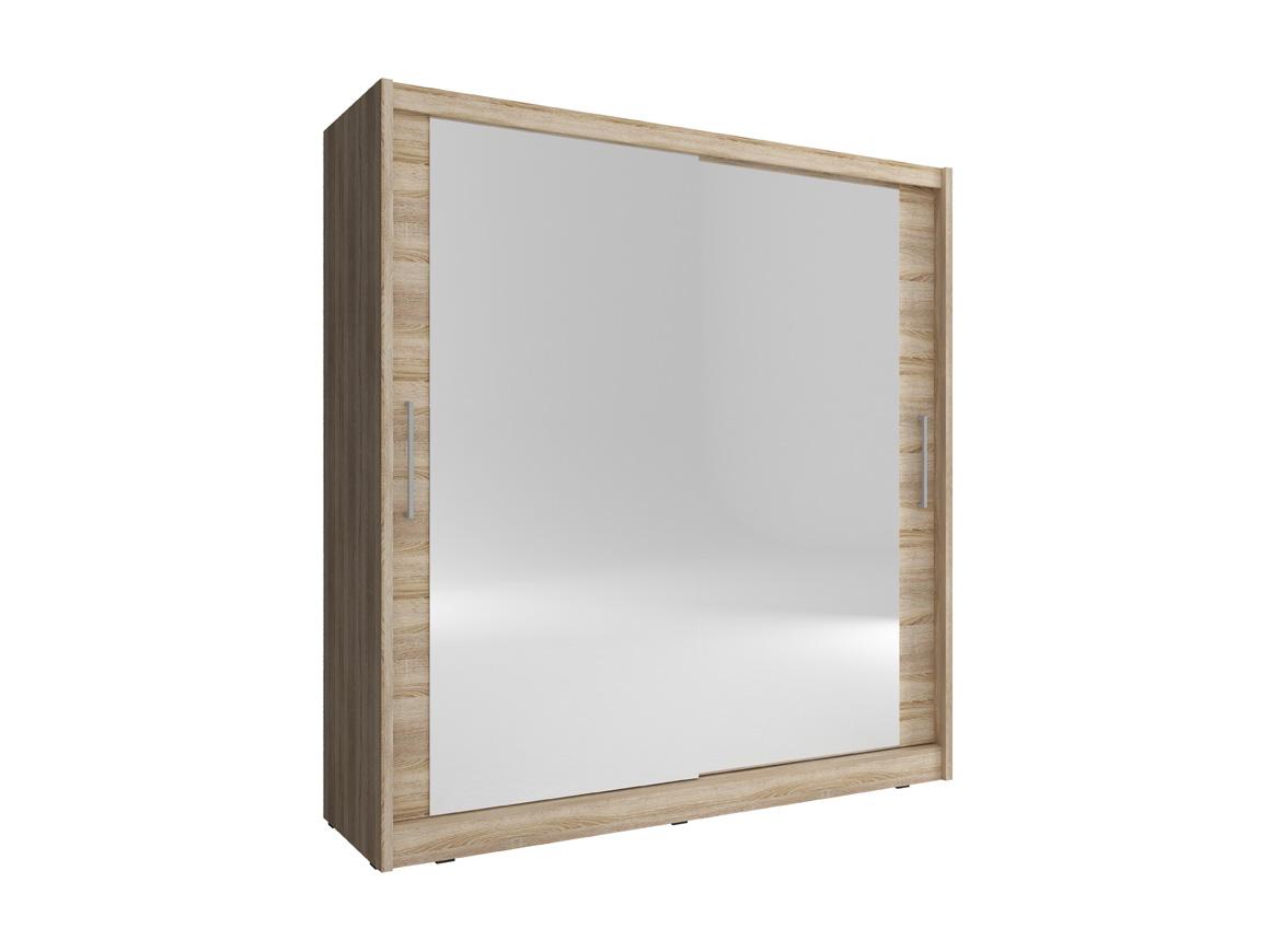 Armoires & Wardrobes Reliable Julia 6 Large Sliding Mirrored Doors Bedroom Wardrobe White Oak Brown 180 200cm Furniture