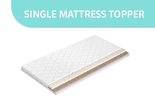 Single mattress topper