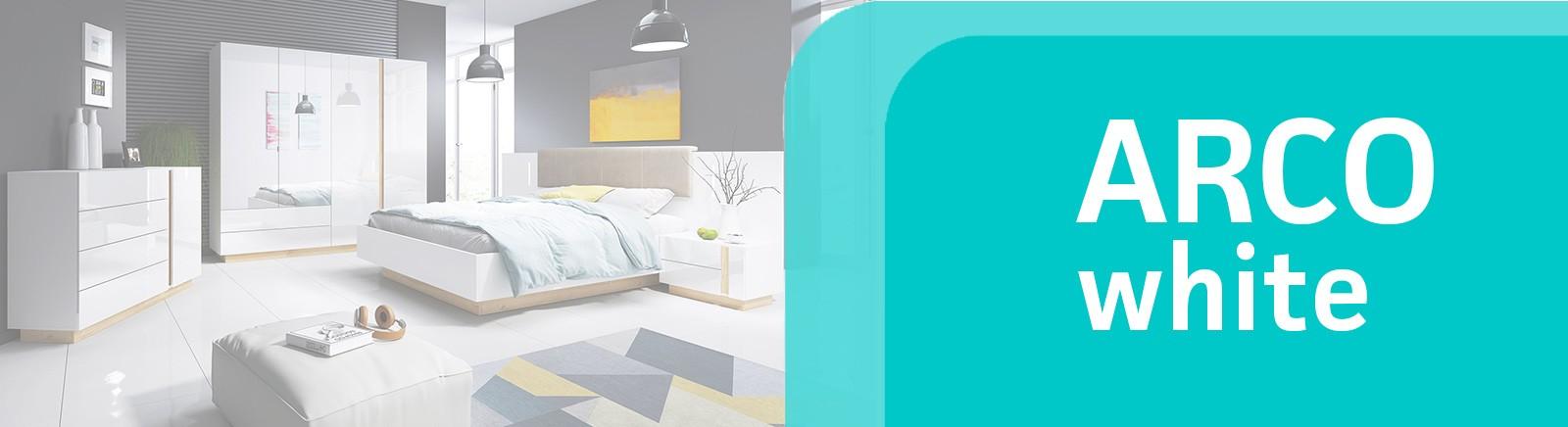 Arco white bedroom set
