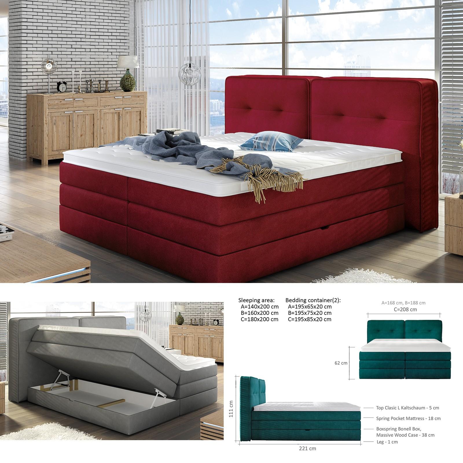 Bmf Falun 140 160 Cm Wide Mattress Modern Double Bed Faux